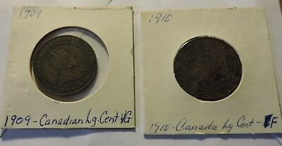 1909 & 1910 Canadian Large Cents