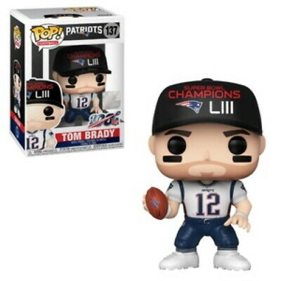 FUNKO POP! Football 137 Patriots TOM BRADY Super Bowl Champions LIII  Vinyl Fig