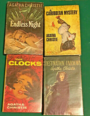 Vintage Agatha Christie book set 1950,s Book Club produced nice covers jackets !