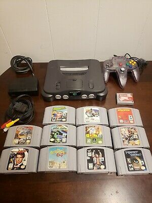 Nintendo 64 console lot 11 games tested working bundle rumble pack cleaned