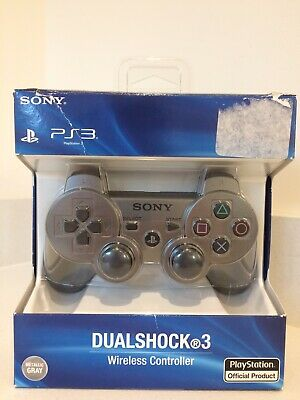 Official Genuine Sony DualShock 3 Metallic Grey PlayStation Controller US Import