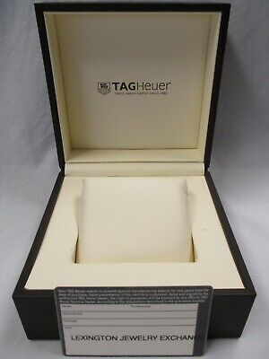 Tag Heuer Watch Case Box Pillow & Vintage Retailer Stamped Open Guarantee Card
