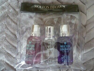 Molton Brown Gift Set 3 x 30ml Body Washes New