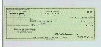 Rod Serling Hand Signed Vintage 1967 Bank Check The Twilight Zone Rare Autograph