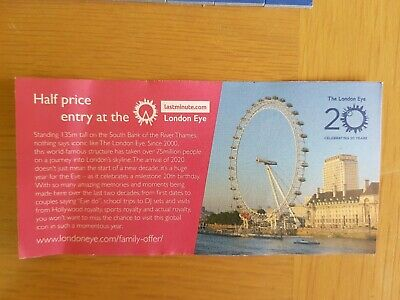 Half Price online London Eye Tickets Voucher Coupon 50% Off 5 People Adult/child