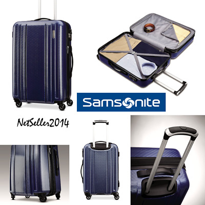 """🆕COOL Samsonite Carbon 2 20"""" Spinner Luggage Carry On Blue Navy w/Lock & Handle"""