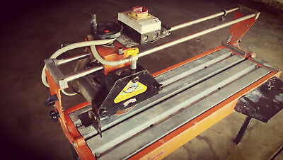 "Wet Saw NUOVO MONDIAL ""MANTA"" BRAND, Granite, Marble, Ceramic 40"" cutting length"