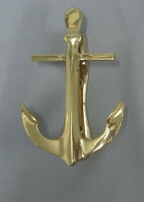 Anchor Door Knocker Solid Brass 14cm High Quality Hand Made 345g