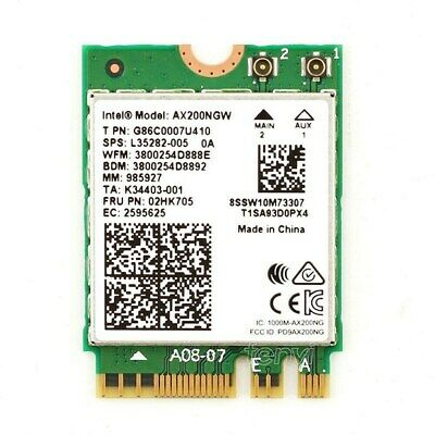 Intel Wi-Fi 6 AX200 Dual-Band M.2 2230 Network Adapter with Bluetooth