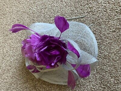 Phase Eight Grey And Dark Cerice Fascinator