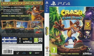 - Crash Bandicoot N Sane PS4 Replacement Box Art Case Insert Cover Only