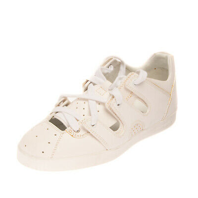 RRP €380 EMPORIO ARMANI Leather Sneakers Mismatch Size L 37 R 37.5 Cut Out