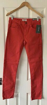 Boys Zara Red Denim Skinny Jeans 13-14 Years New