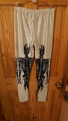 Goth/Metal Skeleton Leggings small