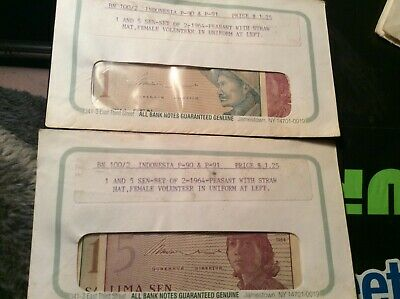 P-91 UNC LOT 1964 5 x 5 Sen Indonesia