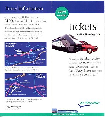 le Shuttle - Eurotunnel ticket wallet and guide from 1997