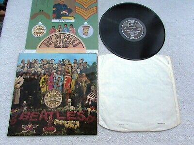 The Beatles Lp Sgt Pepper's 1967 Original Uk Stereo Later Silver/Black Near Mint