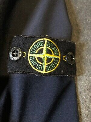 Boys Stone Island Junior Navy Blue Soft Cell Jacket Age 14 Years