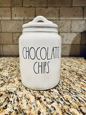 Rae Dunn CHOCOLATE CHIPS Canister - HTF/BRAND NEW!