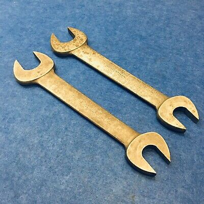 """FAIRMOUNT No.40 1-1/4"""" & 1-5/8"""" Double Open End Wrench (lot of 2)"""