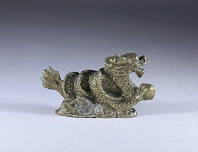 Chinese Bronze Dragon Scroll weight
