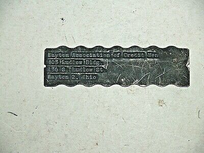 Vintage  1950's Charge Plate,  ASSOCIATION OF CREDIT MEN,  DAYTON, OHIO 99 CENTS