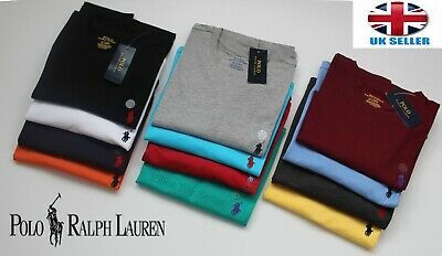 Men's Ralph Lauren Short Sleeve Crew Neck 100% Cotton T-Shirts - S M L XL XXL