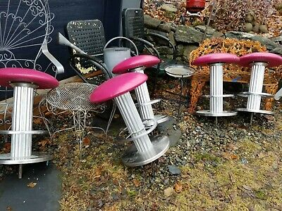 5 Vintage Ice Cream Counter /  Diner / Parlor Soda Fountain Stool Deco Style