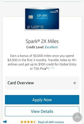 Capital One Spark Miles/Cash Business Credit Card REFERRAL + $100 PayPal From Me