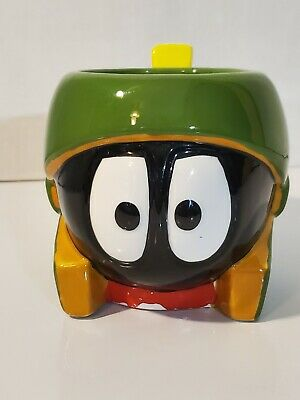 looney tunes marvin the martian ceramic mug cup warner brothers preowned