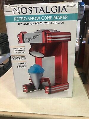 Nostalgia RSM702 Retro Single Snow Cone Maker MINOR BOX DAMAGE