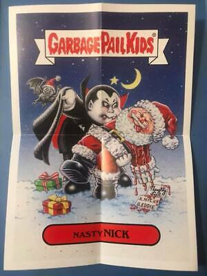 GPK Garbage Pail Kids We Hate The Holidays 5x7 poster 2019 #6 NASTY NICK