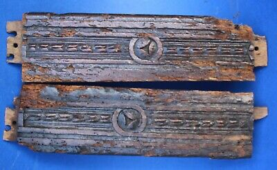 Pair of early 17th Century Carved oak Styles , Gothic Medieval carving