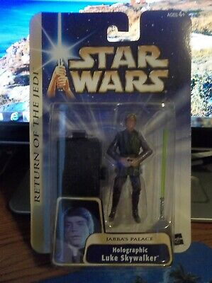 "Star Wars ROTJ Luke Skywalker Holographic Jabba's Palace '04 #11 ""BRAND NEW"""