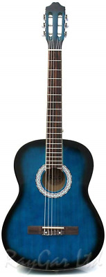 RayGar Blue 39'' 4/4 Full Size Acoustic Nylon Classical String Guitar Package -