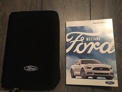 Ford Mustang Owners Handbook User Manual & Wallet Set 2015-2018 * Coupe Cariolet