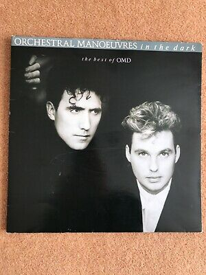 """OMD The Best Of 12"""" white label vinyl album 1988 A&M vg condition"""