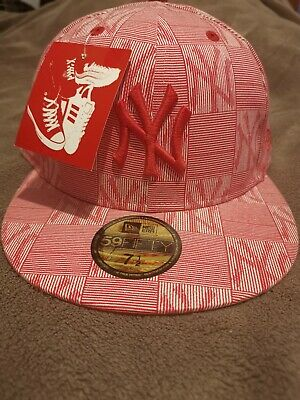 New Era 59 Fifty, Fitted Baseball Cap, 7 1/2, New York Yankees, Red