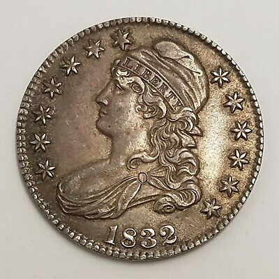 1832 P Capped Bust Half Dollar 50c US Coin Philadelphia Mint  AA14