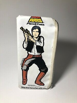 Vintage Star Wars 1977 White Helix Pencil Case Rare  Han Solo. Used