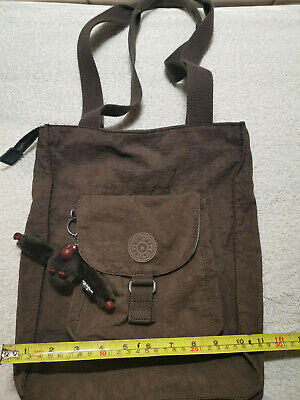 KIPLING Brown Handbag Shoulder Bag EZELDA Monkey Medium