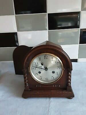 German (Kienzle) Striking Mantle Clock With   Very Pretty And Decorative Case