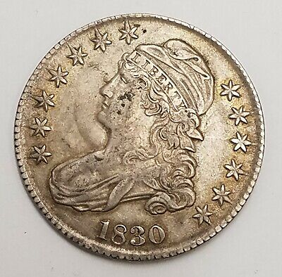 1830-P 50C CAPPED BUST HALF DOLLAR 50c US COIN PHILADELPHIA MINT  AA19