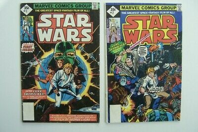 STAR WARS # 1 and # 2  -- Bronze Age - Mid-Grade -1977 Marvel Comics Reprints