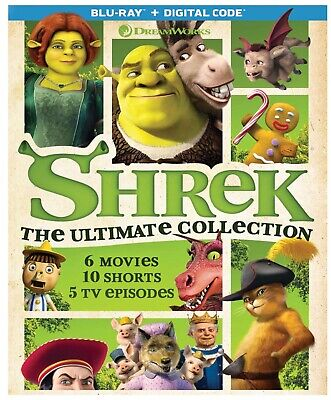 Shrek: The Ultimate Collection (6 movies, 7 Blu-ray Discs - NO Digital Code)
