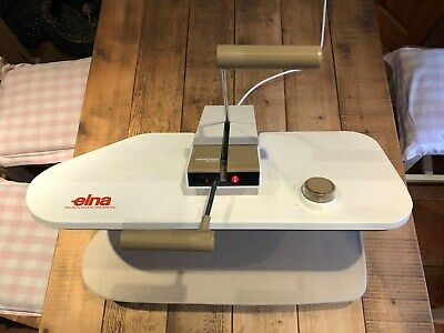 Elna Ironing Press Table Top Iron Steam + Cover