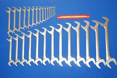 "HUGE 28 Pc Snap-On SAE Four-Way Angle Head Open-End Wrench Set (1/4-2"") VS828A"