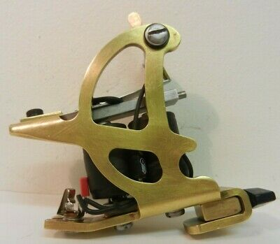 vintage early danny harkins brass d shaped shader tattoo machine