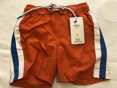 Boys M&S Swim Shorts - Sun Safe UPF 50+ - Age 4-5 - New With Tags
