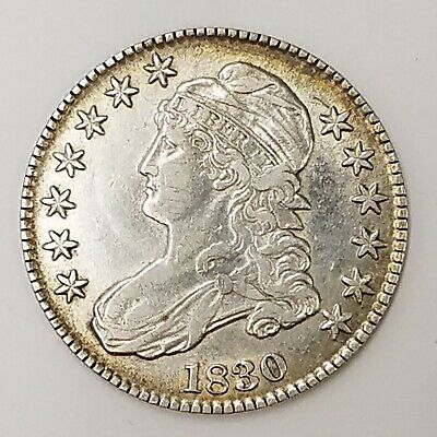 1830 P Capped Bust Half Dollar 50c US Coin Philadelphia Mint  AA42